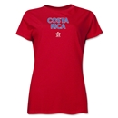 Costa Rica CONCACAF Distressed Women's T-Shirt (Red)