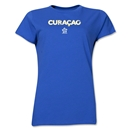 Curacao CONCACAF Distressed Women's T-Shirt (Royal)
