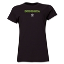 Dominica CONCACAF Distressed Women's T-Shirt (Black)