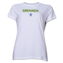 Grenada CONCACAF Distressed Women's T-Shirt (White)
