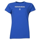 Honduras CONCACAF Distressed Women's T-Shirt (Royal)