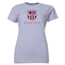 Barcelona Mes Que Un Club Women's T-Shirt (Gray)