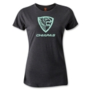 Jaguares de Chiapas Distressed Women's T-Shirt (Dark Gray)