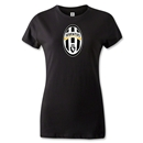 Juventus Badge Women's T-Shirt (Black)