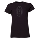 Juventus Distressed Logo Women's T-Shirt (Black)