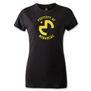 Morelia Monarcas Distressed Property Women's T-Shirt (Black)