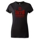 Manchester United 1878 Women's Distressed T-Shirt (Black)