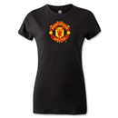 Manchester United Women's T-Shirt (Black)