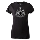 Newcastle United Distressed Crest Women's T-Shirt (Black)