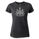 Newcastle United Distressed Crest Women's T-Shirt (Dark Gray)