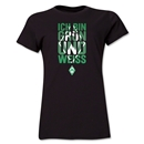 Werder Bremen I Am Green and White Women's T-Shirt (Black)