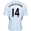 Fulham 12/13 KARAGOUNIS Authentic Home Soccer Jersey