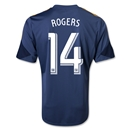 LA Galaxy 2014 ROGERS Replica Secondary Soccer Jersey