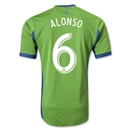 Seattle Sounders FC 2013 ALONSO Authentic Primary Soccer Jersey