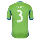 Seattle Sounders FC 2014 EVANS Authentic Primary Soccer Jersey