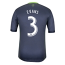 Seattle Sounders FC 2014 EVANS Authentic Secondary Soccer Jersey