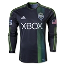 Seattle Sounders FC 2013 Authentic LS Secondary Soccer Jersey
