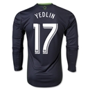 Seattle Sounders FC 2014 YEDLIN LS Authentic Secondary Soccer Jersey