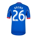 Colorado Rapids 2014 BROWN Authentic Secondary Soccer Jersey