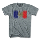 France Flag Vintage T-Shirt (Gray)