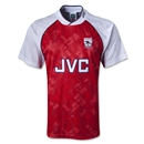 Arsenal 1991 Home Soccer Jersey