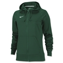 Nike Women's Full-Zip Poly Fleece Hoody (Dark Green)