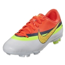 Nike Junior Mercurial Victory IV CR FG (White/Volt/Total Crimson)