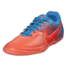 Nike5 Elastico II Indoor Shoe (Bright Mango/Total Crimson/Blue Glow)