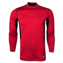 Nike Pro Combat Hyperwarm Compression Mock (Red)
