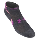 Under Armour Women's Heatgear Phantom Low Cut Sock 3-Pack (Dk Grey)