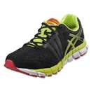 Asics Gel-Lyte 33 2 Running Shoe (Black/Lime/Red)