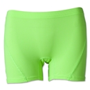 Women's 4 Compression Short (Neon Green)
