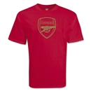 Arsenal Gold Crest T-Shirt (Red)