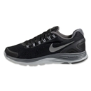 Nike Women's Lunarglide+ 4 Running Shoe (Black/Dark Grey/Wolf Grey)