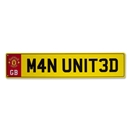 Manchester United Number Plate Sign