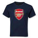 Arsenal Crest Kids T-Shirt (Navy)