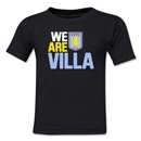 Aston Villa We Are Villa Kids T-Shirt (Black)