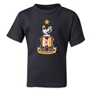 Bradford City Kids Crest T-Shirt (Black)