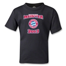 Bayern Munich 2013 Kids Deutscher Meister T-Shirt (Black)