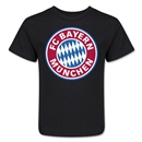 Bayern Munich Logo Kids T-Shirt (Black)