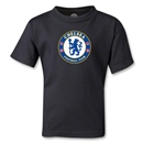 Chelsea Crest Kids T-Shirt (Black)