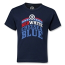 Chelsea Red White and Blue Kids T-Shirt (Navy)