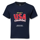 USA CONCACAF Gold Cup 2013 Champions Kids T-Shirt (Navy)