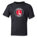Charlton Athletic Crest Kids T-Shirt (Black)