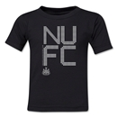 Newcastle United Pixel Graphic Kids T-Shirt (Black)
