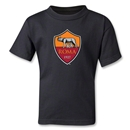 AS Roma Crest Kids T-Shirt (Black)