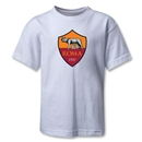 AS Roma Crest Kids T-Shirt (White)