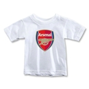 Arsenal Crest Toddler T-Shirt (White)