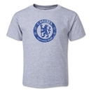 Chelsea Distressed Emblem Toddler T-Shirt (Gray)