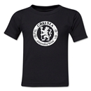 Chelsea Distressed Emblem Toddler T-Shirt (Black)